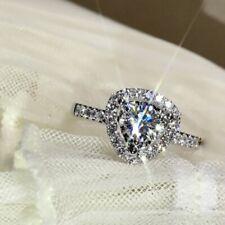 Fashionable diamond ring exquisite love female ring simulation diamond micro-set