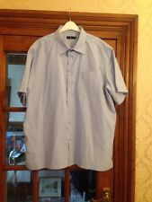 Florence & Fred Short Sleeve Pale Blue Shirt Size XL