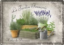 Nostalgic Art Le Jardin Francais Französiche Kräuter Küche Herbes Blechpostkarte