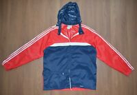 Adidas Ventex Vintage 80's Raincoat Blue Red Nylon Mens Jacket sz 5 / 48 / M