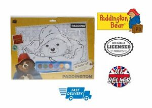 Officially Licensed Paddington Bear A3 Colouring Posters Set Paint