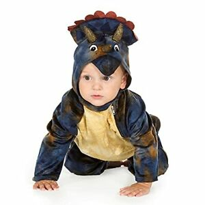 Baby Triceratops One PCE Official Natural History Museum Kids Dinosaur Costume,