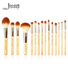 Jessup New 15pcs Bamboo Makeup Brush Set Cosmetic Brushes Kit Make up Tools T142