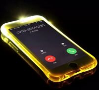 LED Flash Light Up Incoming Call Luminous Phone Case Cover For X XR XS Max 8 7 6