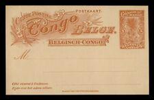 DR WHO BELGIAN CONGO UNUSED POSTAL CARD STATIONERY C203204