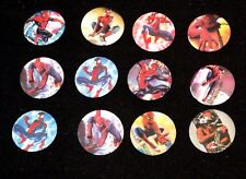 Spiderman 12 x badge pin gifts girls boys birthday loot party bag filler badges