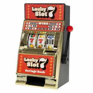 8 Inch Mini Slot Machine Coin Novelty Lucky 7s Casino Jackpot Savings Bank