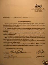 1989 Topps Signed Player Contract - Mark Eichorn w/ COA
