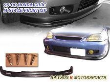 Mu-gen Style Front Lip (Urethane) Fits 99-00 Honda Civic 4dr