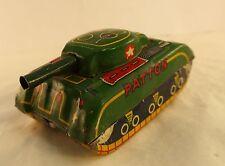 SFA France char Patton friction 8 cm en tôle ancienne rare
