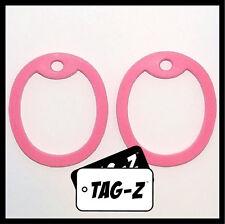 2 Pink Dog Tag Silencers - Military GI Silencer - Tag-Z