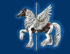 Pegasus Zaira~ Gypsy Vanner Carousel Horse cards Greek Icon