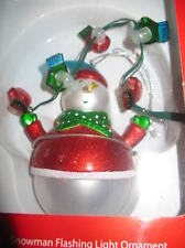 Dept. 56 Snowman & Mittens Flashing Christmas Lights NEW