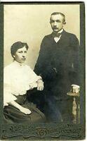 DANEMARK DENMARK ODENSE JENSENS couple homme & femme CDV photo circa 1890