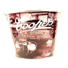 Coopers Extra Stout Beer Bucket, Galvanised Tin with handle