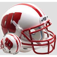 Wisconsin Badgers Ncaa Schutt Xp Authentic Mini Football Helmet