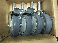 """QUANTUM 5"""" SWIVEL CASTER SET OF 4 - 2 WITH BRAKES #WR-00H -  NEW IN BOX"""