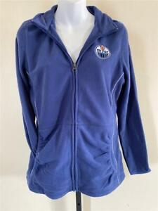 New Edmonton Oilers Womens Sizes S-XL Blue Zip Up Sweater