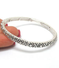 Tailored Design Stackable Stretch Bangle- Silver/Copper Alloy FAST FREE SHIP