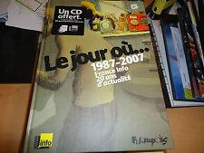LE JOUR OU 1987 2007  BD DE DAVID B  JC DENIS  FUTUROPOLIS