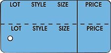 """Garment Tag LargeLot, Style, Sz, Prc Dk Blue in color 2-7/8""""x 1-3/8, box of 1000"""