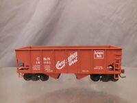 HO SCALE BURLINGTON C&S 18051 RIBBED 2-BAY HOPPER