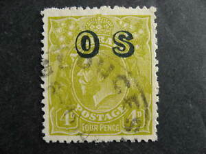Australia overprinted official used Sc O4 check it out!