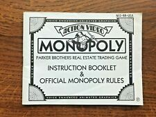 Monopoly NES Nintendo Instruction Manual Only