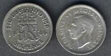 GREAT BRITAIN 6 Pence 1946 AG George VI