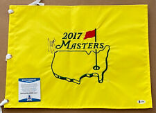 Sergio Garcia Signed Augusta National Masters Pin Flag  Beckett Certified