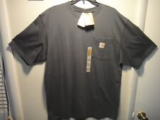 Carhartt Mens Short Sleeve Shirt Original Fit Work Play Color Blue / Gray Size L