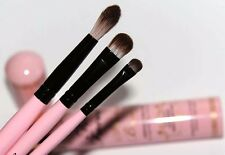 TOO FACED Shadow Brushes Essential 3 Piece Set Smudger, Lid, Crease NIP!