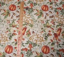 Fall Autumn Pumpkin Acorn Collage Signature Classics Fabric Quilt Sew BTY
