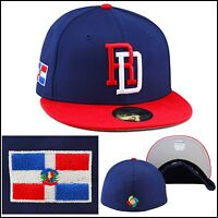 "New Era WBC ""DR"" Fitted Hat DARK ROYAL/RED/Dominican Republic Flag Side Patch"