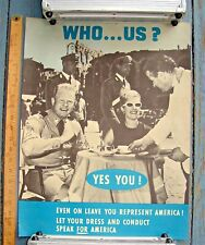 1963 US Army Vietnam Behave on Leave Poster  'Who us? Yes You!' -- RARE