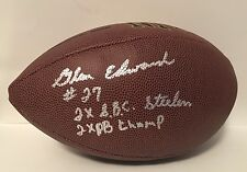 Glen Edwards Pittsburgh Steelers Rare AUTOGRAPH SIGNED F/S WILSON FOOTBALL Proof