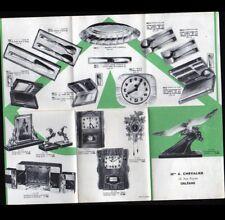 "ORLEANS (45) BIJOUTERIE HORLOGERIE ORFEVRERIE ""A. CHEVALIER"" Tract période 1950"
