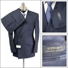 $1995 NWT CORNELIANI Master Navy Super 100's Wool DB Peak Slim Fit Suit 46 36 R