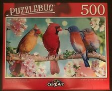 Puzzlebug 500 Piece Jigsaw Puzzle Cardinals meet the Bluebirds - 18.25' X 11'