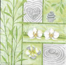 Lot de 2 Serviettes en papier Asie Bambou Zen Decoupage Decopatch
