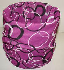 Purple Circle Links Tubular Multi Function Headwear Scarf Balaclava Beanie Cap