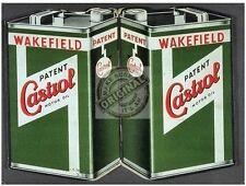 Castrol Motor Lata De Aceite Vintage Wakefield Motor De Coche Clásico Medio