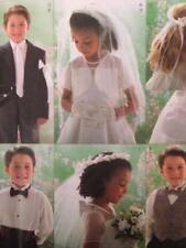 Butterick Sewing Pattern 4059 Girls Boys Bolero Vest Necktie Bag Veil UC Sz 2-5