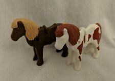Playmobil Farm Animal Western Figure Lot - Pony Horses x2