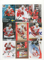 43 count lot mixed Johan Franzen CARDS 2006-2014 Detroit Red Wings Center! MULE