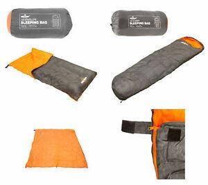 2 Season Adult Envelope Mummy 150 Sleeping Bag Suit Case Extreme Camping Hiking