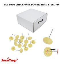 Eas 1000 Checkpoint Plastic Head Steel Pin 31Mm Yellow