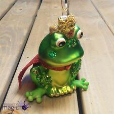 Gisela Graham grenouille prince couronne cape pailleté Sapin de Noël