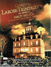 PUBLICITE ADVERTISING 016  1987  les vins Chateau Larose-Trintaudon  haut-Médoc