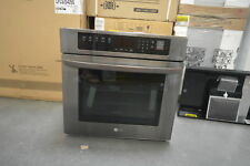 "Lg Lws3063Bd 30"" Black Stainless Single Electric Wall Oven Nob #28350 Hl"